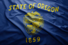 Flag of Oregon state Stock Photography