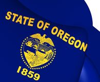 Flag of Oregon, USA. Stock Image