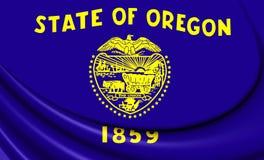 Flag of Oregon, USA. Royalty Free Stock Photography