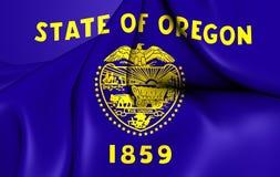 Flag of the Oregon, USA. Stock Image