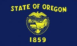 Flag of Oregon Wall Stock Photo