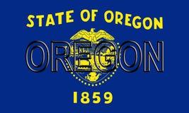 Flag of Oregon Word Royalty Free Stock Photos