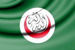 Flag of Organisation of Islamic Cooperation. 3d Rendered Flag of Organisation of Islamic Cooperation royalty free illustration