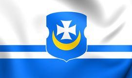 Flag of the Orsha, Belarus. Royalty Free Stock Photo