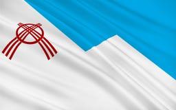 Flag of Osh, Kyrgyzstan royalty free illustration