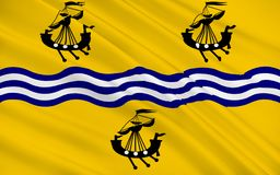 Flag of Outer Hebrides of Scotland, United Kingdom of Great Brit. Flag of Outer Hebrides, also known as the Western Isles or the Long Isle or Long Island is an royalty free stock photography