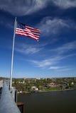Flag Over the Hudson Stock Image