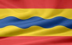 Flag of Overijssel- Netherlands. Very large flag of the dutch region of Overijssel Stock Photos