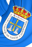 Flag of Oviedo City, Spain. Royalty Free Stock Photo