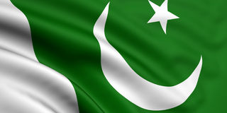 Flag Of Pakistan. 3d rendered and waving flag of pakistan Royalty Free Stock Images