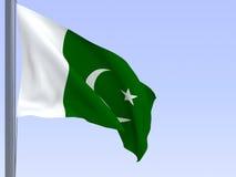 flag pakistan Royaltyfria Bilder