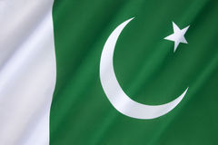 Flag of Pakistan. Adopted in its present form during a meeting of the Constituent Assembly on 11th August 1947, just three days before independence, when it Royalty Free Stock Images