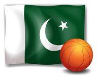 The flag of Pakistan at the back of a ball Stock Images