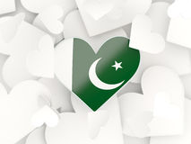 Flag of pakistan, heart shaped stickers Stock Photo