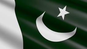Flag of Pakistan - seamless loop royalty free illustration