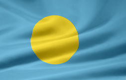 Flag of Palau Royalty Free Stock Photo