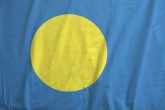 Flag of Palau waving. royalty free stock photos