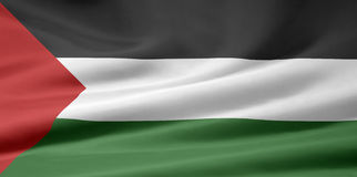 Flag of Palestine Royalty Free Stock Photo