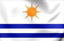 Flag of Palmas City, Brazil. Stock Images