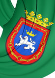 Flag of Pamplona City, Spain. Royalty Free Stock Photos
