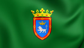 Flag of Pamplona City, Spain. Stock Photos