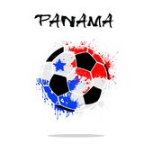 Flag of Panama as an abstract soccer ball. Abstract soccer ball painted in the colors of the Panama flag. Vector illustration Stock Illustration