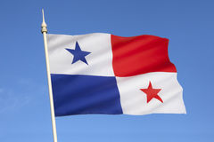 Flag of Panama - Central America. The flag of Panama was officially adopted in 1925. The Panamanian flag day is celebrated on November 4, one day after Royalty Free Stock Image