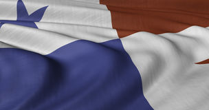 Flag of Panama. Fluttering in light wind Royalty Free Stock Photos