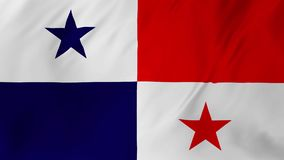 Flag of Panama gently waving in the wind 2 in 1 royalty free illustration