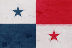 Flag of Panama Grunge. Royalty Free Stock Photos