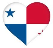 Flag of Panama Heart Stock Photography