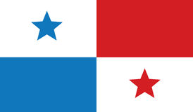Flag of panama  icon illustration Stock Photography