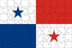 Flag of Panama puzzle Royalty Free Stock Photography