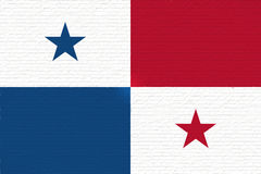 Flag of Panama Wall. Royalty Free Stock Photography