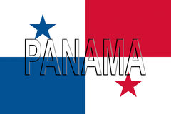 Flag of Panama Word Royalty Free Stock Image