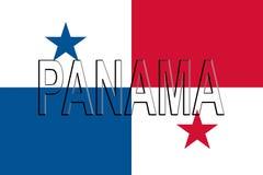 Flag of Panama Word Stock Photo