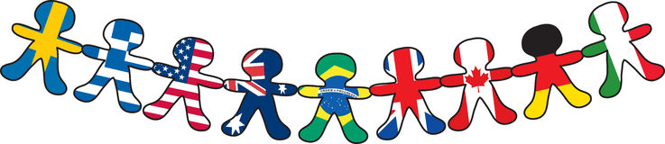 Flag Paper Dolls Stock Images