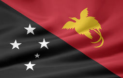 Flag of Papua New Guinea Royalty Free Stock Photography