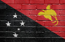 Flag of Papua New Guinea on brick wall Royalty Free Stock Image
