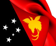 Flag of Papua New Guinea Royalty Free Stock Photo