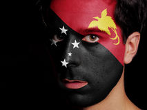 Flag of Papua New Guinea Stock Images