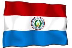 flag paraguay Arkivbild