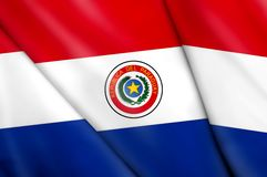 Flag of Paraguay. This is an illustration of folded flag Royalty Free Stock Photos