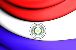 Flag of Paraguay. 3D Flag of the Paraguay. Close Up Stock Photos