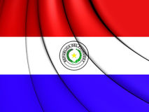Flag of Paraguay. 3D Illustration Stock Photo