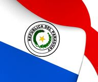 Flag of Paraguay. Close Up stock illustration