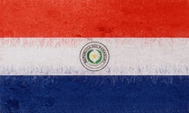 Flag of Paraguay Grunge. Royalty Free Stock Photography