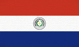 Flag of Paraguay Wall. Royalty Free Stock Image