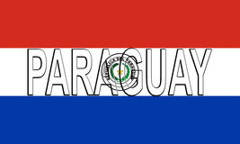 Flag of Paraguay Word. Stock Photos