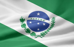 Flag of Parana stock illustration